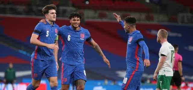 Maguire Mings Sancho Inghilterra gol lapresse 2021 640x300