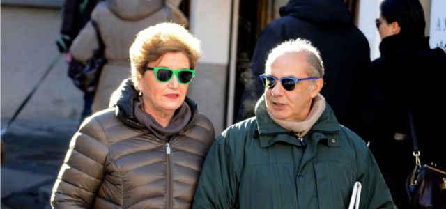 Mara Maionchi in compagnia del marito Alberto Salerno