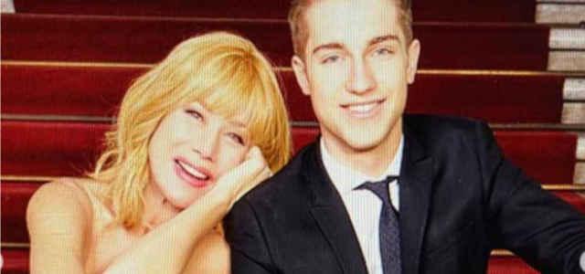 Nancy Brilli in compagnia del figlio Francesco Manfredi