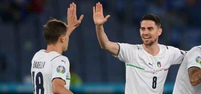 Barella Jorginho Italia esultanza facebook 2021 640x300