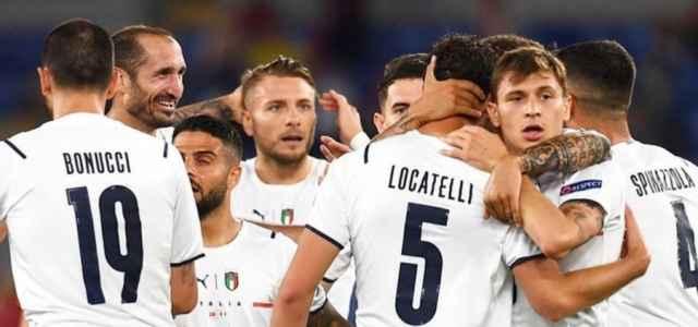 Locatelli Barella Bonucci Immobile Spinazzola Chiellini Italia gol facebook 2021 640x300