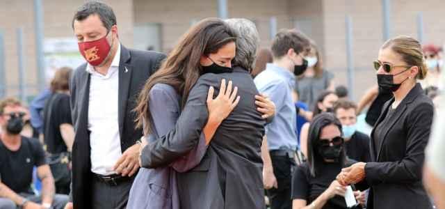 francesca verdini matteo salvini funerali michele merlo 2021 lapresse 640x300
