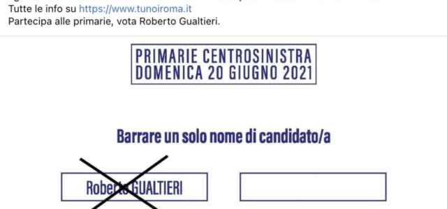 Scheda Pd Primarie a Roma