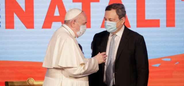Papa Francesco e Draghi