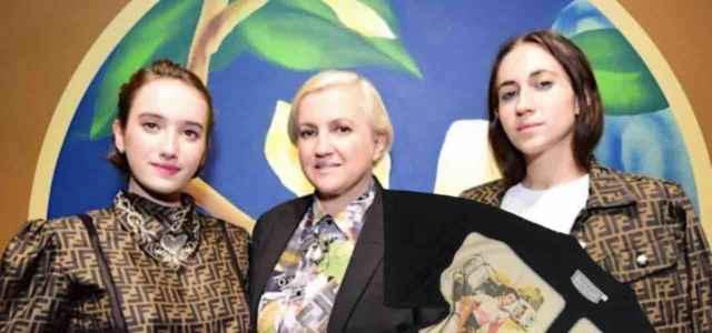 Silvia, Ilaria e Maria Teresa figlie Anna Fendi