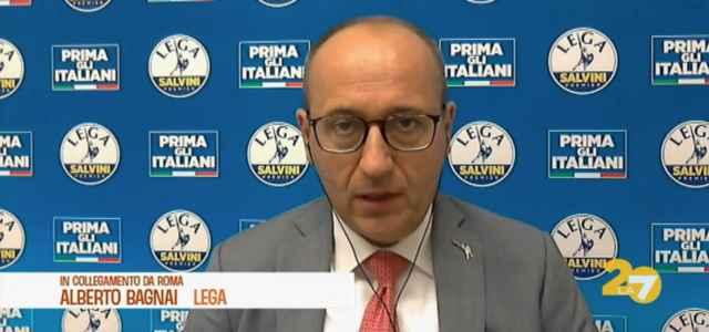 Alberto Bagnai, senatore Lega, a L'Aria che tira