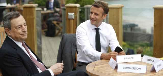 Macron con Draghi