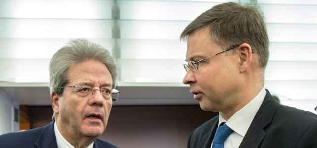 Gentiloni e Dombrovskis