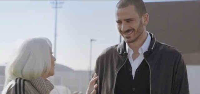 Il calciatore Leonardo Bonucci a colloquio con Raffaella Carrà