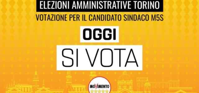 voto M5s per candidato sindaco Torino