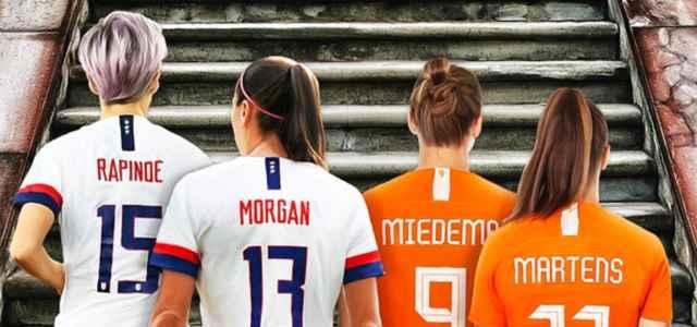 Usa Olanda calcio femminile disegno facebook 2021 1 640x300
