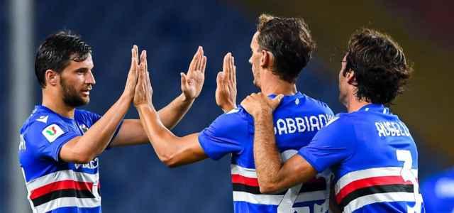 Gabbiadini Sampdoria gol Coppa Italia facebook 2021 1 640x300