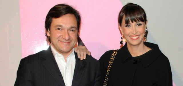 Benedetta Parodi in compagnia del marito Fabio Caressa