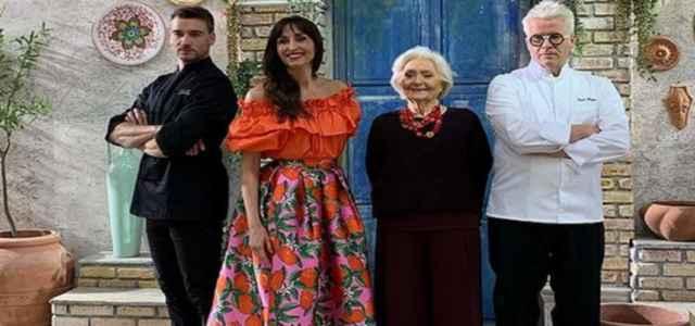 I tre giudici e la conduttrice di 'Bake Off Italia 2021'
