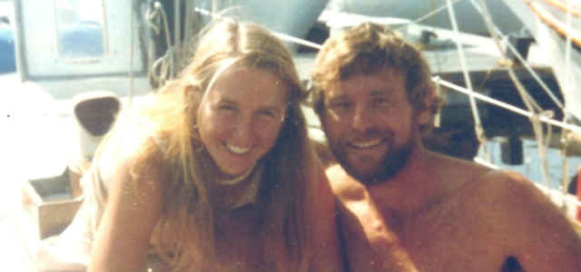 Tami Oldham Ashcraft e Richard Sharp all'epoca del loro fidanzamento