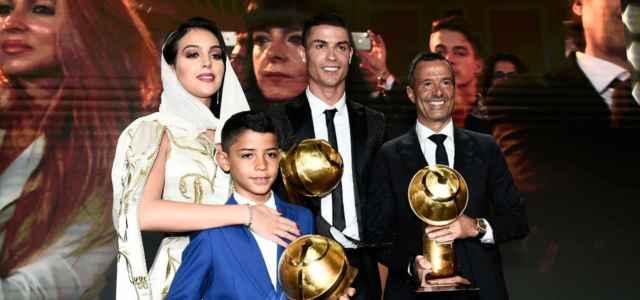 Cristiano Ronaldo famiglia Georgina figlio Mendes lapresse 2021 640x300