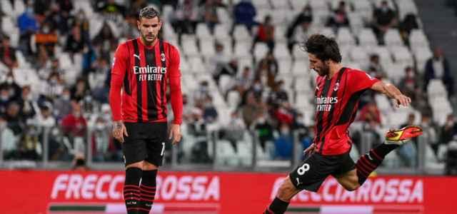 Tonali punizione Theo Milan lapresse 2021 640x300