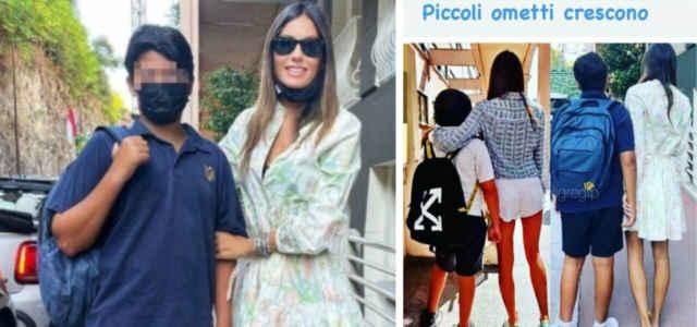 Elisabetta Gregoraci e Nathan Falco Briatore (un anno fa e oggi)
