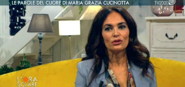 "Maria Grazia Cucinotta, ospite a ""L'Ora Solare"""